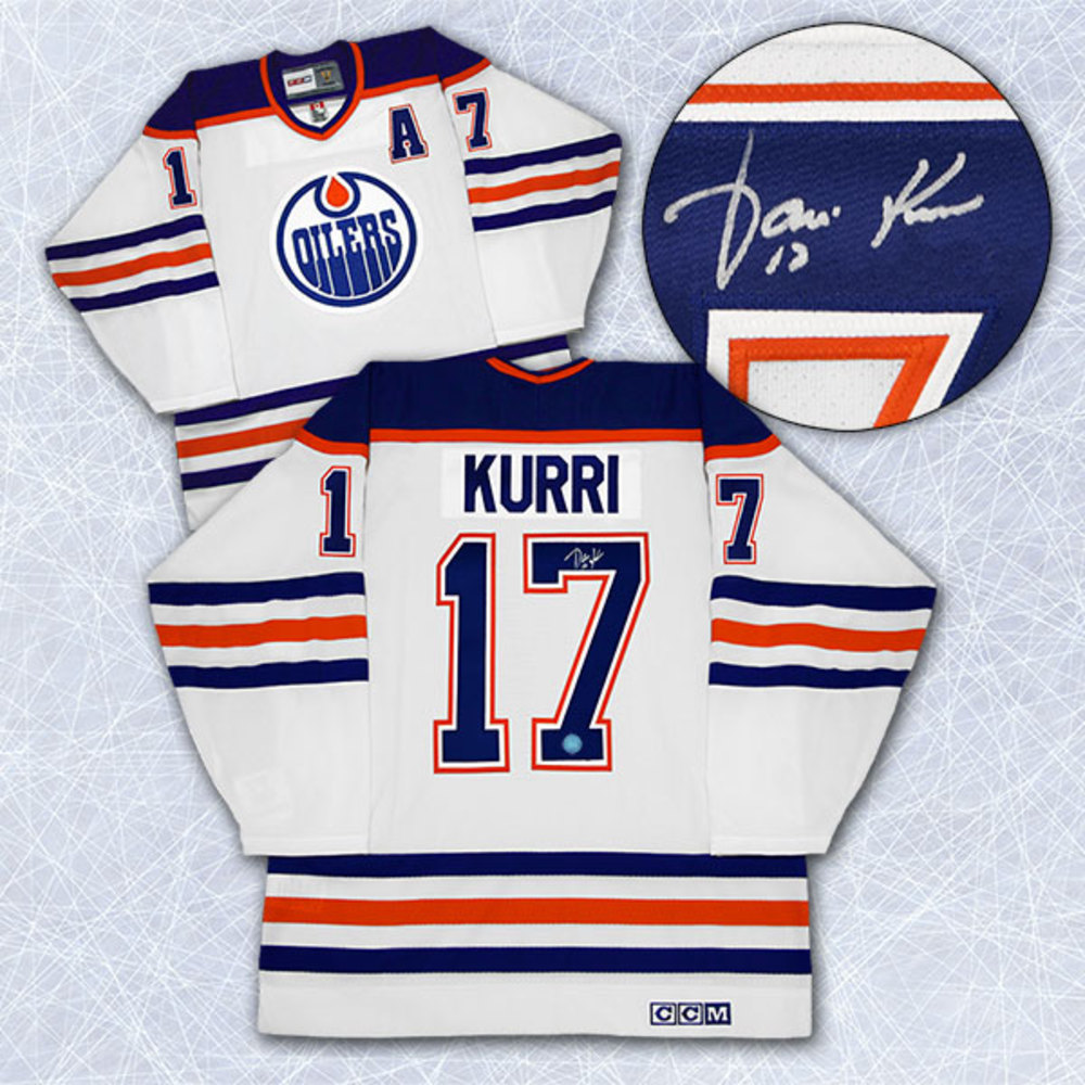 Jari Kurri Edmonton Oilers Autographed White Retro CCM Hockey Jersey
