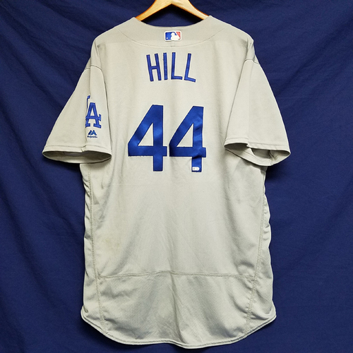 Photo of Rich Hill Game-Used Road Jersey 12th Win of 2016 v Marlins