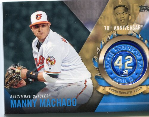 Photo of 2017 Topps Jackie Robinson Logo Patches #JRPCMM Manny Machado