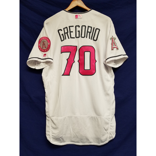 Photo of Tom Gregorio Game-Used Home Mother's Day Jersey