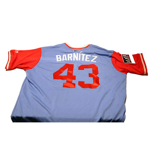 "Photo of Tony ""Barnitez"" Barnette Texas Rangers Game-Used Players Weekend Jersey"