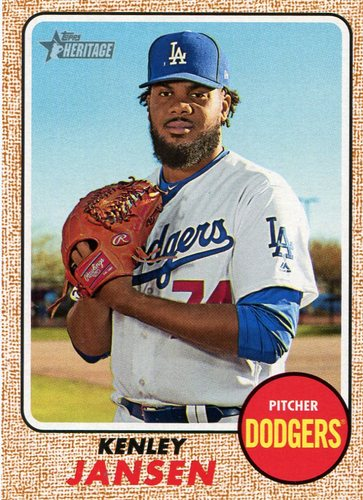 Photo of 2017 Topps Heritage #712A Kenley Jansen Short Print -- Dodgers post-season