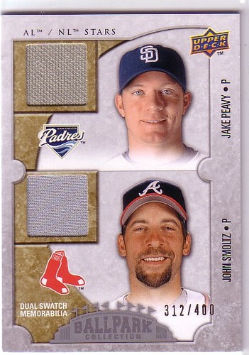 Photo of 2009 Upper Deck Ballpark Collection #106 John Smoltz/Jake Peavy/400