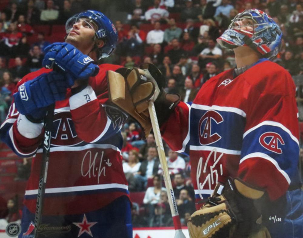 Carey Price & Maxim Lapierre DUAL Signed Montreal Canadiens CENTENNIAL 16x20