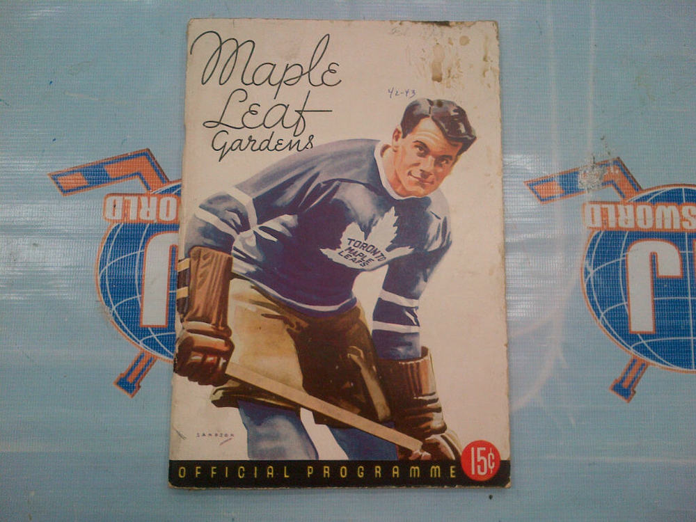 Maple Leaf Gardens OFFICIAL PROGRAM from February 13th, 1943 *ORIGINAL*