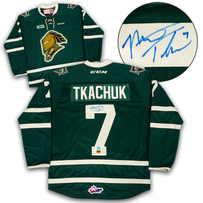 Matthew Tkachuk London Knights Autographed CCM CHL Hockey Jersey