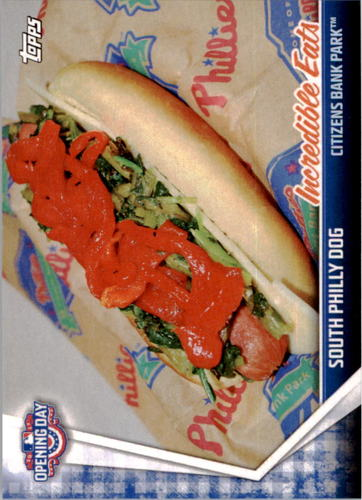 Photo of 2017 Topps Opening Day Incredible Eats #IE4 South Philly Dog