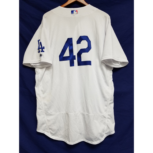 "Photo of Adrian Gonzalez Game-Used ""42"" Jersey"