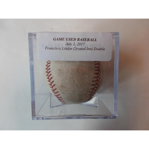 Photo of Game-Used Baseball: Lindor Grounds Into Fielders Choice-Jason Kipnis Out at 2nd