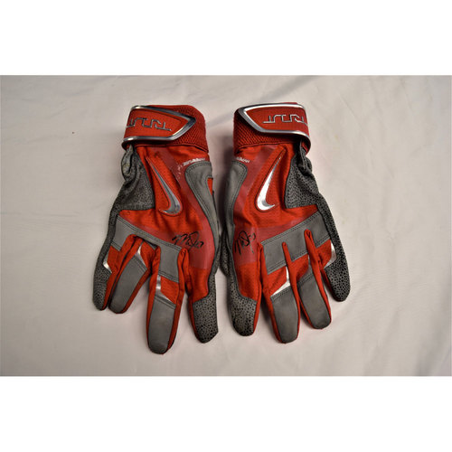 Photo of Mike Trout Autographed Batting Gloves Benefitting Pet Pal Animal Shelter