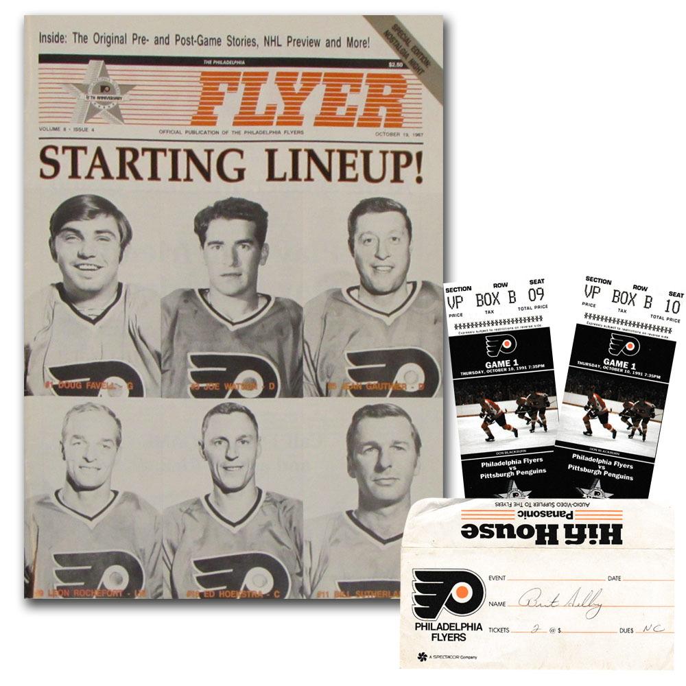 Philadelphia Flyers 25th Anniversary 1991-92 Season Opening Night Program w/Game Tickets