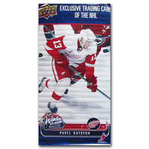 Pavel Datsyuk Detroit Red Wings Banner - on Display at 2009 NHL Winter Classic