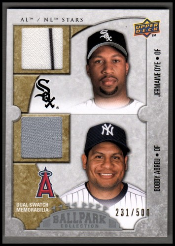 Photo of 2009 Upper Deck Ballpark Collection #114 Jermaine Dye/Bobby Abreu/500