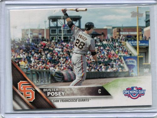 Photo of 2016 Topps Opening Day #OD183B Buster Posey SP/Batting