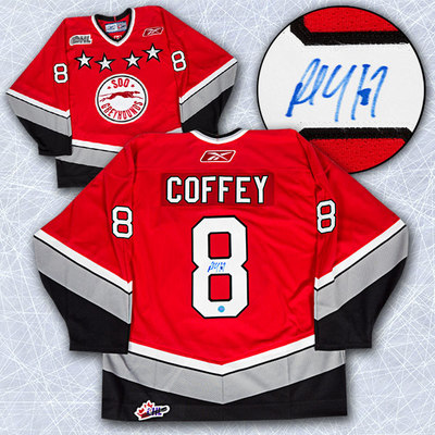 Paul Coffey Sault Ste. Marie Greyhounds Autographed OHL Hockey Jersey