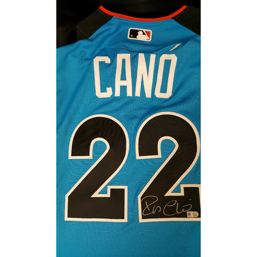 Photo of Robinson Cano 2017 Major League Baseball Workout Day/Home Run Derby Autographed Jersey