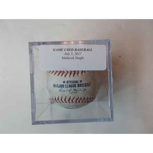 Photo of Game-Used Baseball: Mikie Mahtook Single