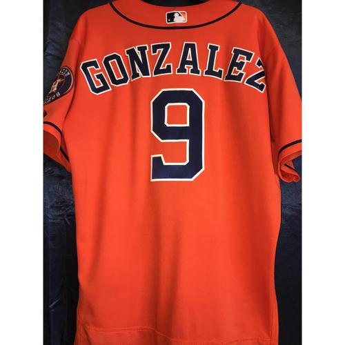 Photo of Game-Used Orange Jersey: Marwin Gonzalez