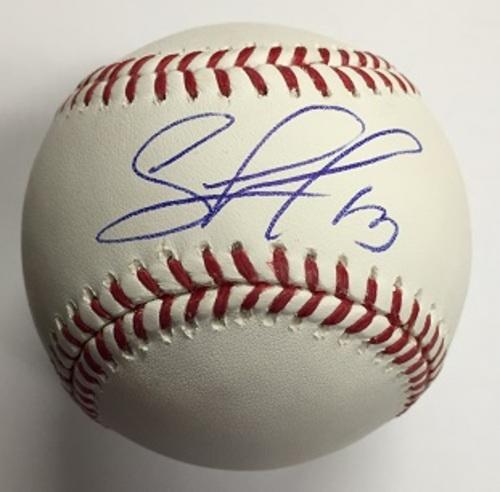Salvador Perez Autographed Baseball