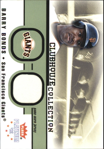 Photo of 2002 Fleer Platinum Clubhouse Memorabilia #5 Barry Bonds Jsy/1000