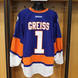 Thomas Greiss - Game Worn Home Jersey - 2015-16 Season - New York Islanders