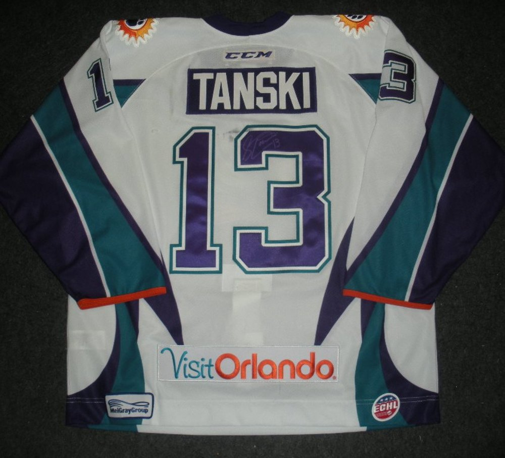 Scott Tanski - Silver Skater -  Orlando Solar Bears - Autographed Game-Worn Jersey - Worn 1/3/14