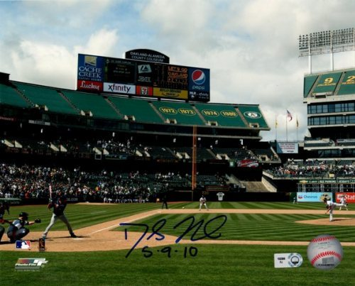 """Photo of Dallas Braden """"5.9.10"""" Perfect Game Full Field View Autographed 8x10"""