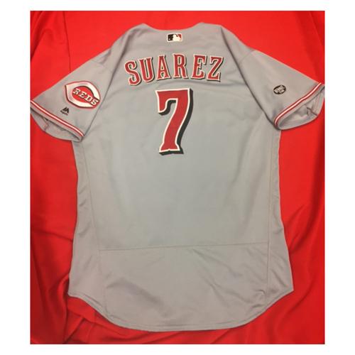 Photo of Game-Used Jersey - Eugenio Suarez - Career-High-Tying 4 RBI Game - 7/29/16 CIN @ SD