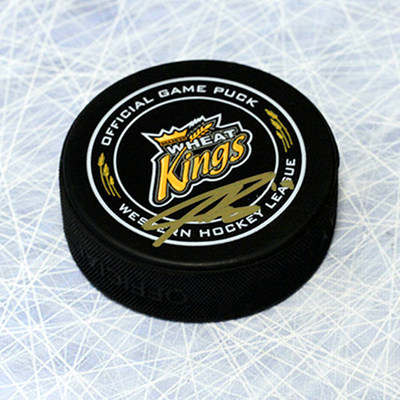 Nolan Patrick Brandon Wheat Kings Autographed Offical Game Puck