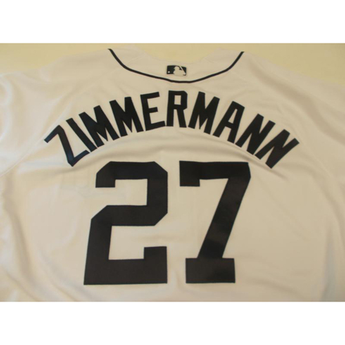 Photo of Game-Used Jordan Zimmermann Jersey: 1st Home Start of 2017