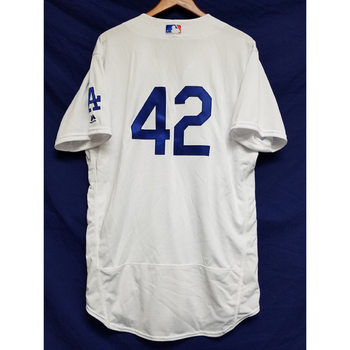 "Photo of Joc Pederson Game-Used ""42"" Jersey"