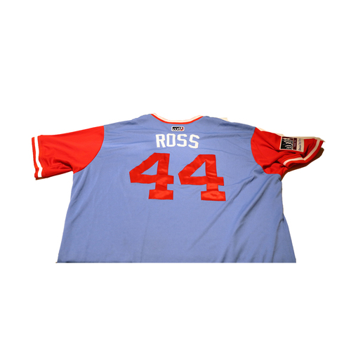 """Photo of Tyson """"Ross"""" Ross Texas Rangers Game-Used Players Weekend Jersey"""