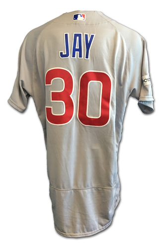 Jon Jay Game-Used Jersey -- NLDS Game 2 -- Cubs at Nationals -- 10/7/17