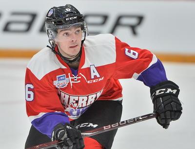 Ryan Merkley 2018 Sherwin-Williams CHL/NHL Top Prospects Game Worn Jersey