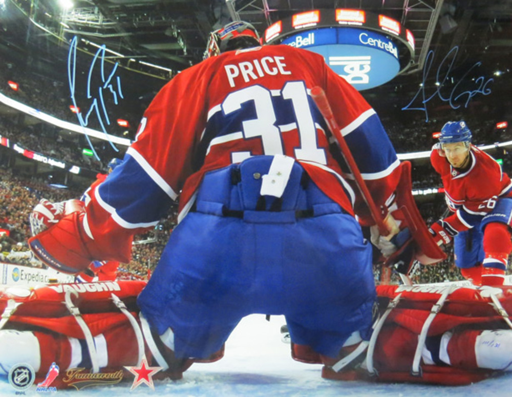Carey Price & Josh Gorges Signed 16x20