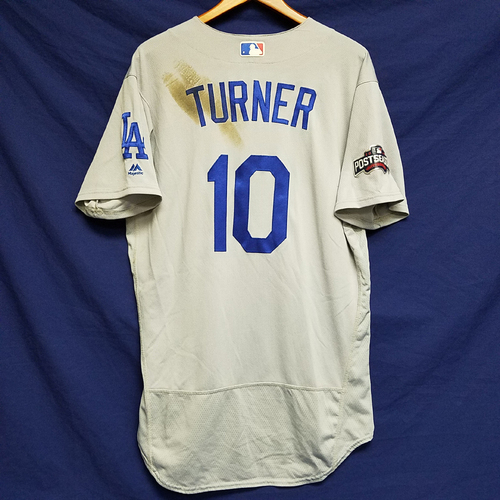 Photo of Justin Turner 2016 Game-Used Road Playoff Jersey vs Cubs