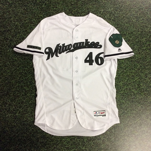 Photo of Corey Knebel 2017 Memorial Day Tribute Game-Used Jersey
