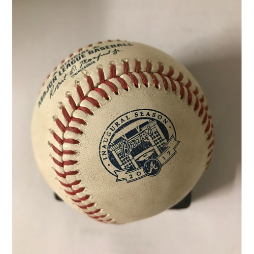 Photo of Cody Bellinger Game-Used Hit Single Baseball - August 1, 2017
