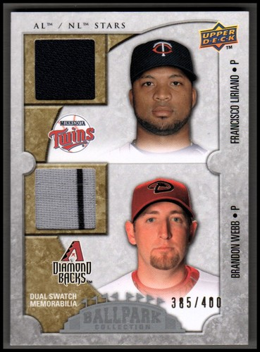 Photo of 2009 Upper Deck Ballpark Collection #121 Francisco Liriano/Brandon Webb/400
