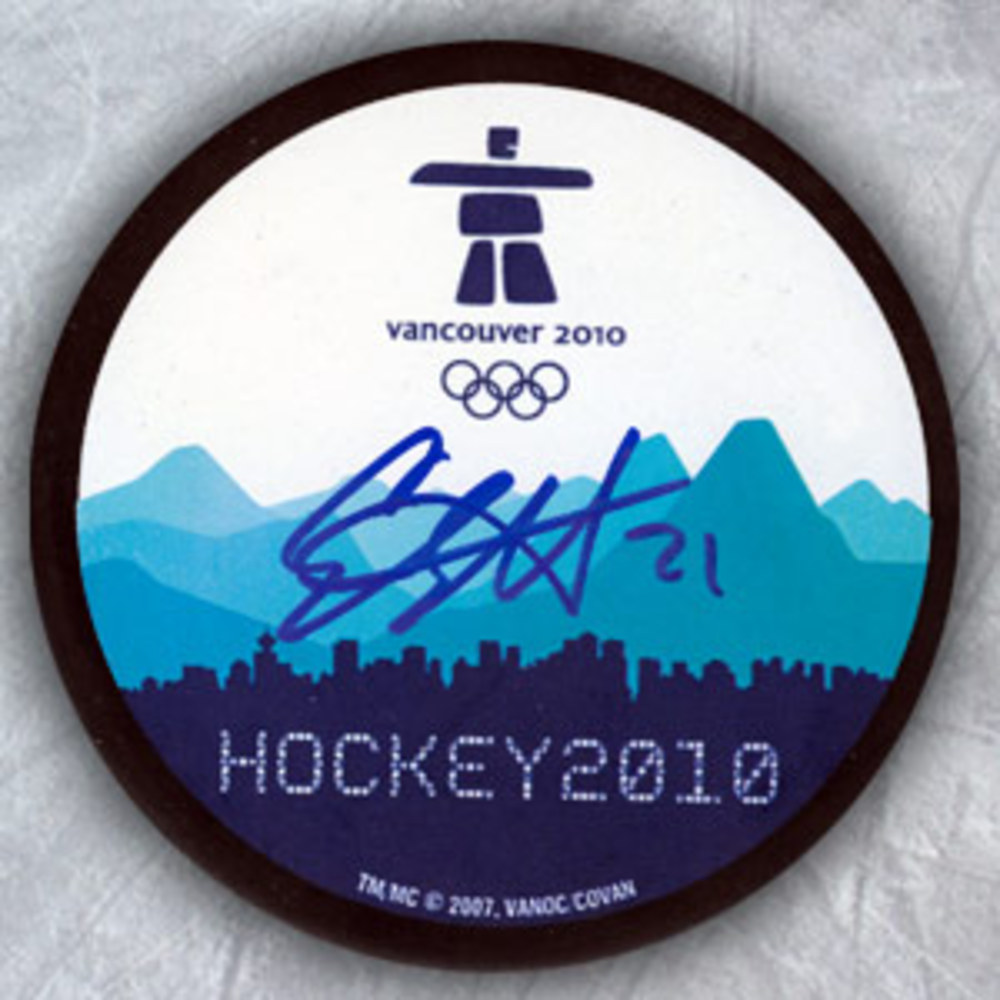 Eric Staal Vancouver 2010 Olympic Hockey Autographed Puck