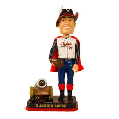 Photo of Autographed Javier Lopez Bobble of the Month - 2016 Commemorative College Bobble #1 out of 180