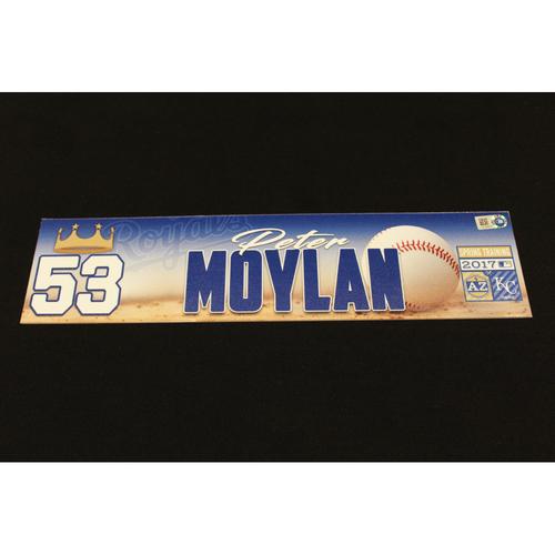Photo of Peter Moylan Spring Training Locker Name Plate