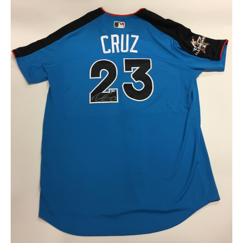 Photo of Nelson Cruz 2017 Major League Baseball Workout Day/Home Run Derby Autographed Jersey