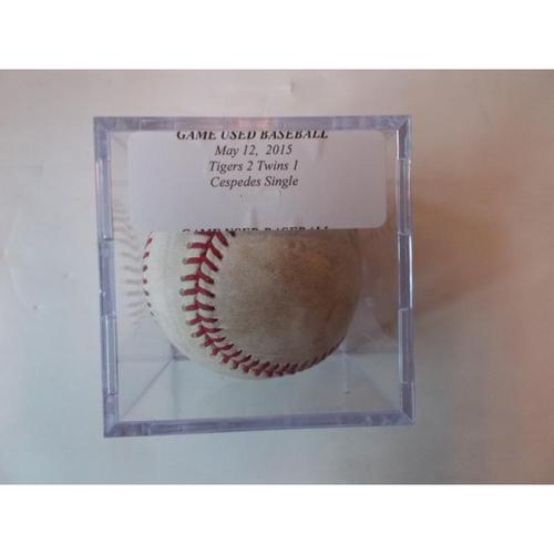 Photo of Game-Used Baseball: Yoenis Cespedes Single