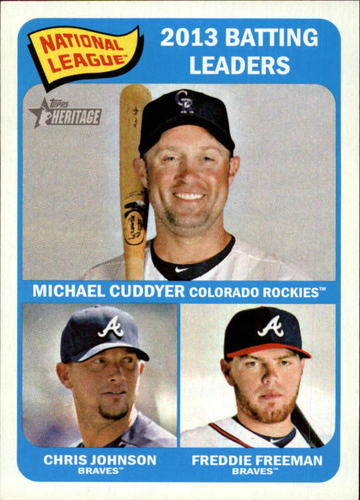 Photo of 2014 Topps Heritage #2 Freddie Freeman/Chris Johnson/Michael Cuddyer