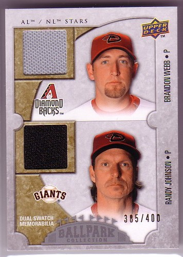 Photo of 2009 Upper Deck Ballpark Collection #125 Randy Johnson/Brandon Webb/400