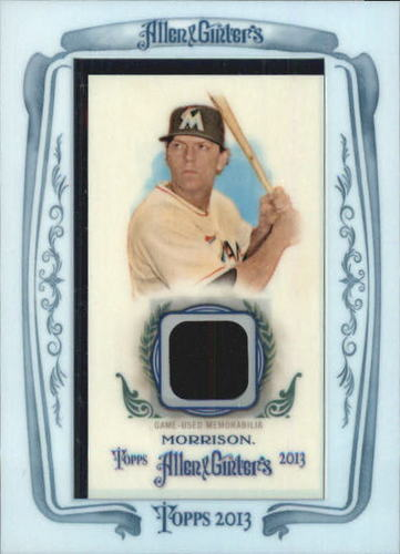 Photo of 2013 Topps Allen and Ginter Framed Mini Relics #LM Logan Morrison