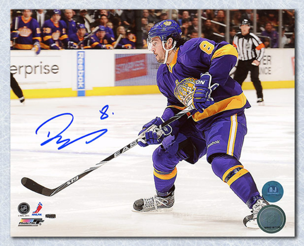 Drew Doughty Los Angeles Kings Autographed Purple & Gold Jersey 8x10 Photo