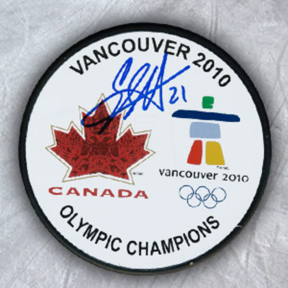 Eric Staal 2010 Olympic Gold Medal Autographed Canada Puck