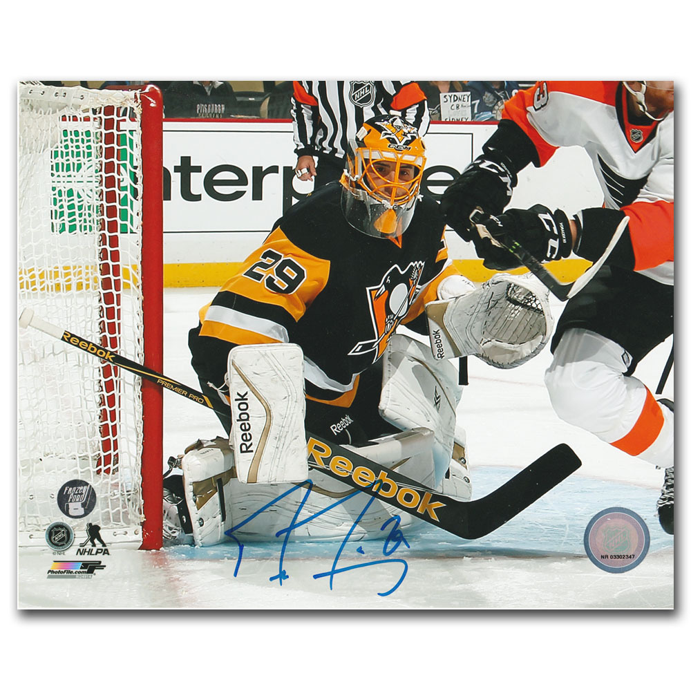 Marc-Andre Fleury Autographed Pittsburgh Penguins 8X10 Photo